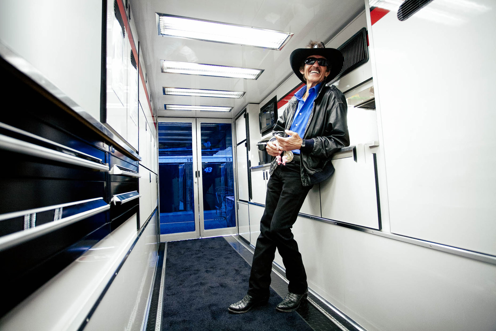 Richard-Petty-inside-hauler